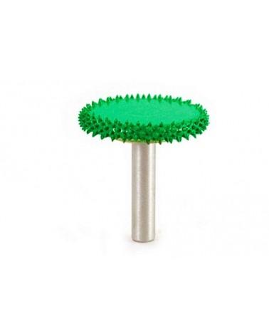 Raspfrees wiel Ø 6 mm 32 x 6 mm grof / groen