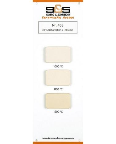 Ton 468 schamottiert weiß-hellcreme Brennfarben