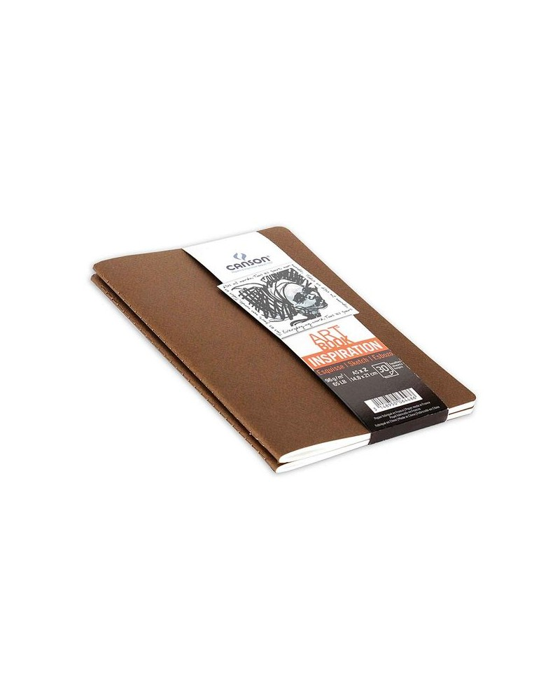 Canson schetsboekje 2 stuks bruin