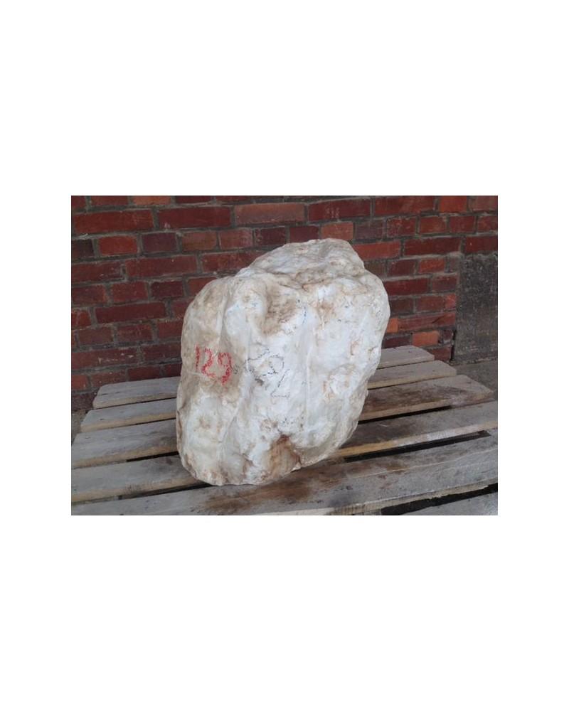 Alabaster transparent-weiß 129 kg Knolle