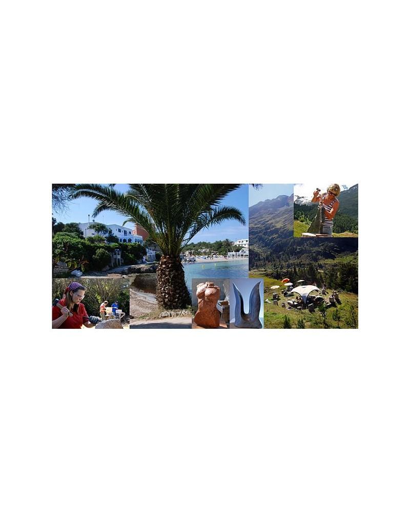 Steinbildhauen - Menorca, Ötztal und Hamburg