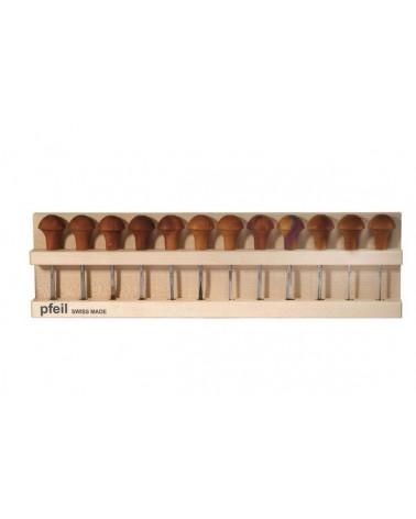 Linoleumgutsen set standaard voor 12 gutsen B*