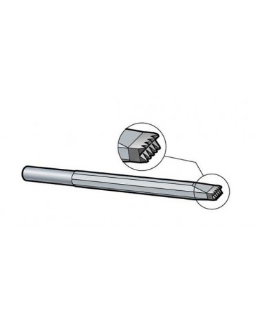 Doppel-Zahneisen Schaft 10,2 mm Hartmetall