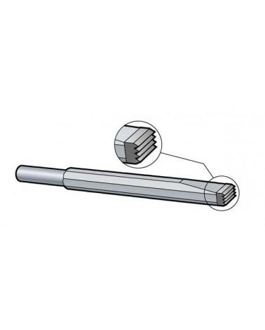 Riffeleisen längs Schaft 10,2 mm Hartmetall