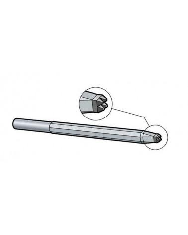 Stockeisen lang Schaft 12,5 mm Hartmetall