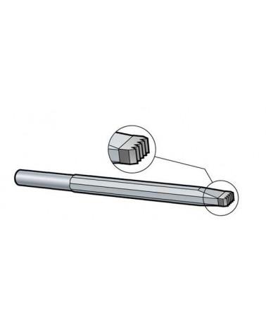 Riffeleisen quer Schaft 12,5 mm Hartmetall