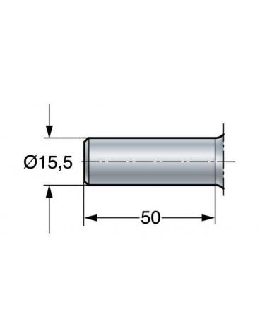 Opbrengspatel geknikt RVS 20 cm
