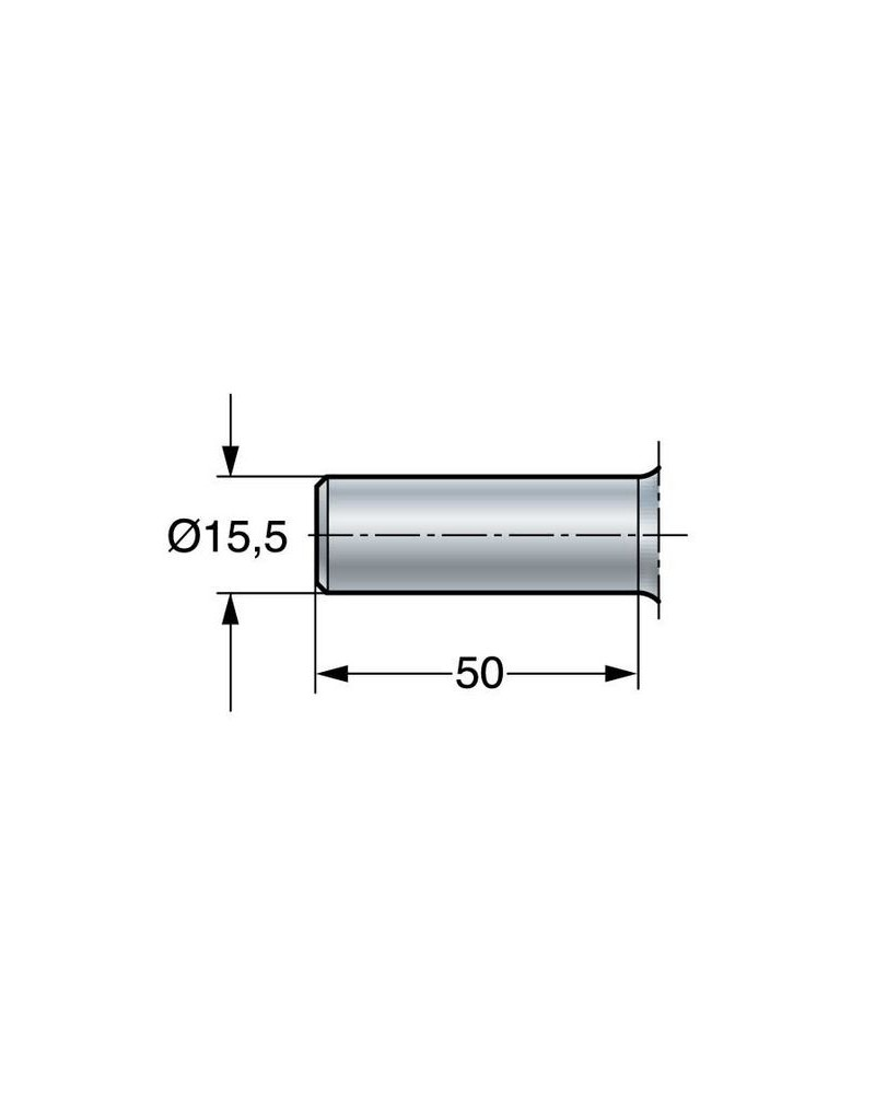 Opbrengspatel geknikt RVS 26 cm