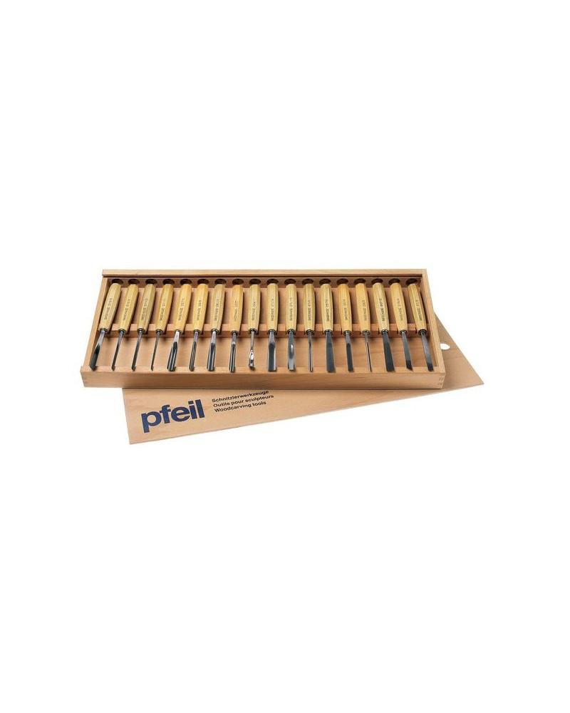 Amateurguts set van 18 in houten kistje B*