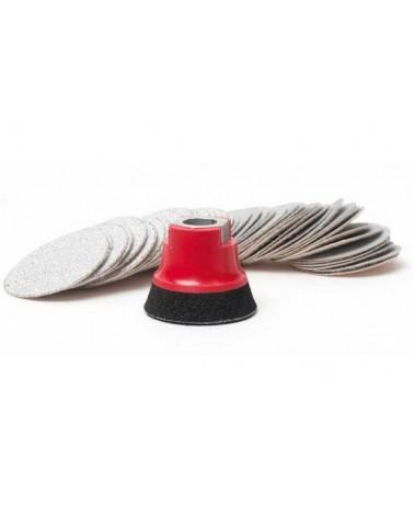 Fiberklettscheiben-Set 75 mm