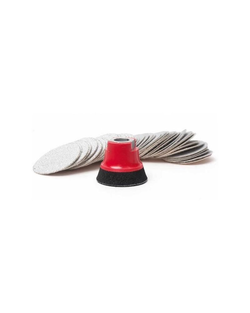 Fiberklettscheiben-Set 75 mm mit FLEXIPADS Aufnahmeteller