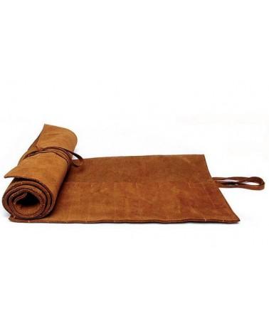 Lederrolltasche für Steinwerkzeug